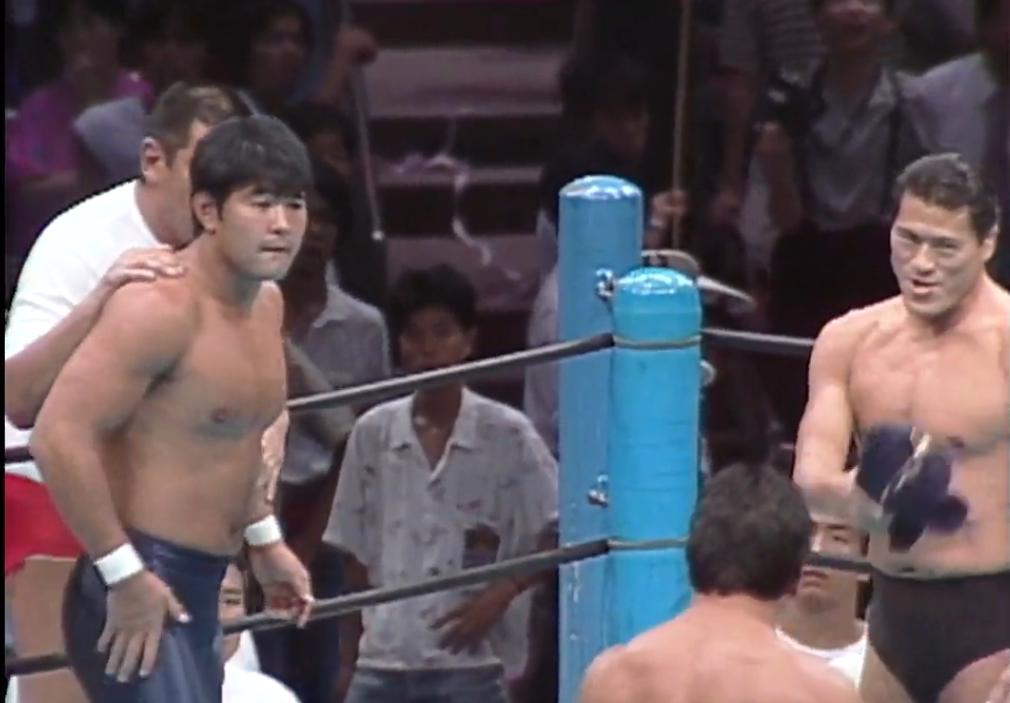 http:// ow.ly/UT2250vALOx      It's Tuesday, August 20 in Japan! #onthisday in 1987, a huge tag team match saw a massive opportunity for a young Keiji Muto, as he teamed with Antonio Inoki against Riki Choshu and Tatsumi Fujinami Relive history on @njpwworld!  https:// front.njpwworld.com/p/s_series_000 79_1_1   … <br>http://pic.twitter.com/AfggmZleGS