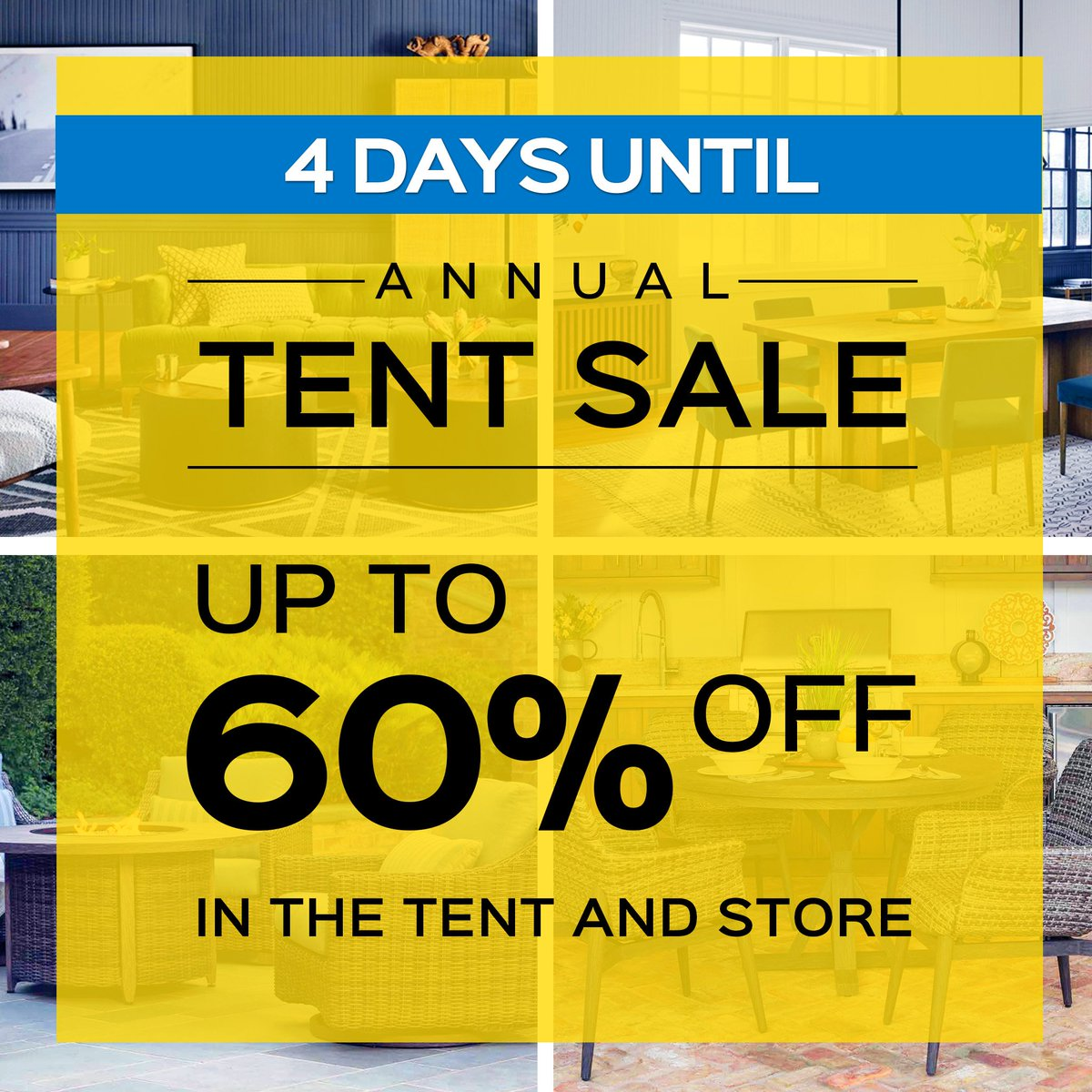 Luxe Furniture Annual Tent Sale - Up to 60 per cent off in the tent and store