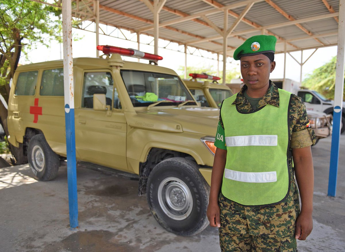 """""""When I'm able to get them to hospital for treatment within the shortest possible time and I later see them fully recovered, I feel a sense of pride,""""– Cpl. Emilly Kyasiimire.  http:// bit.ly/31QTPmh     #WHD2019<br>http://pic.twitter.com/LvVr7n29tC"""