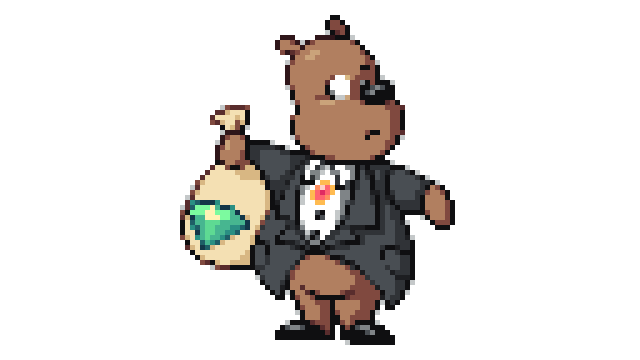 Moneybags! @FullyCustomStu's favourite Spyro character for some reason  Was a bit late on this one, oops!  @Pixel_Dailies #pixel_dailies #money  #pixelart #art #digitalart @SpyroTheDragon #Spyro @aseprite #aseprite<br>http://pic.twitter.com/hJ09OXnlK4