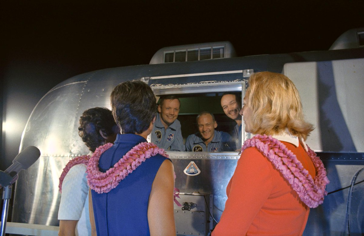 "🆕This Month in @NASAhistory: Apollo 11 #astronauts end 21 days in quarantine and finally return home. ""After we were released from quarantine, it was a wonderful feeling to be outside again—just feel the fresh air and wind on your face. Learn more👉: go.nasa.gov/2P3zBnE"
