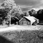 An interesting black & white photograph of the farm taken last night during a thunderstorm