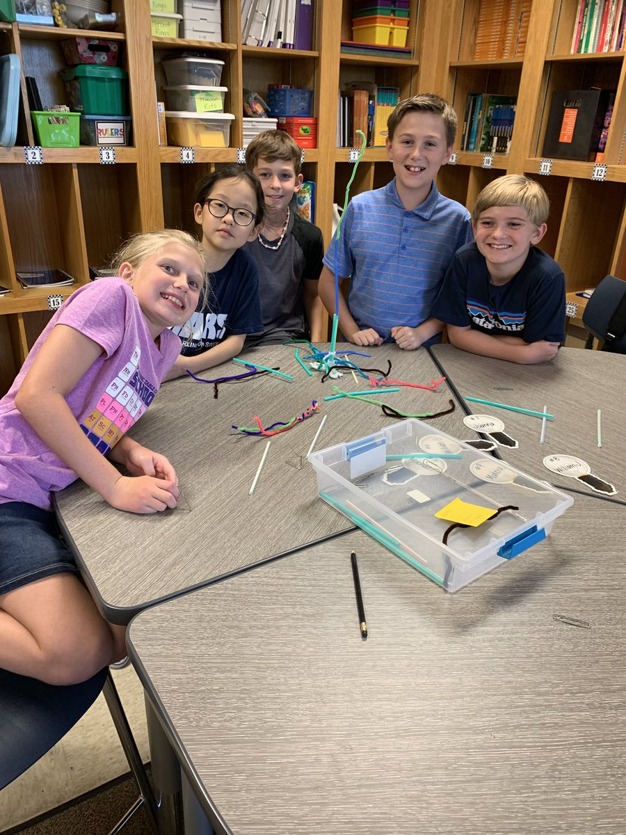 First day STEM challenge: build the tallest tower you can with only 20 straws, paper clips, and pipe cleaners! @CESCowboys #WeAreGCISD #WeAreCESCowboys<br>http://pic.twitter.com/90gCBG7qvd