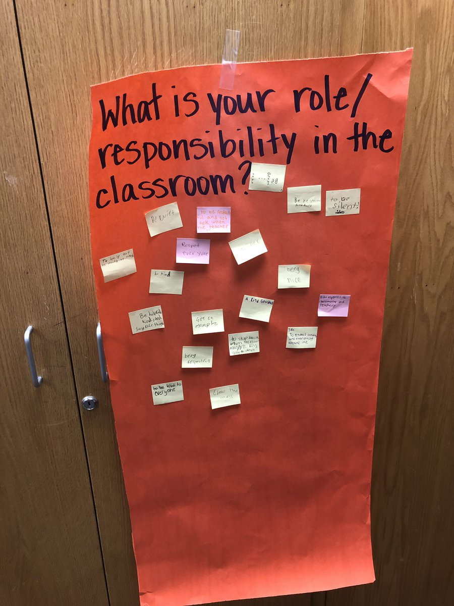 Love to see their thoughts on our classroom community! Great reflection time! @CESShimmick @CESCowboys #WeAreGCISD <br>http://pic.twitter.com/dtGQLdKd3a
