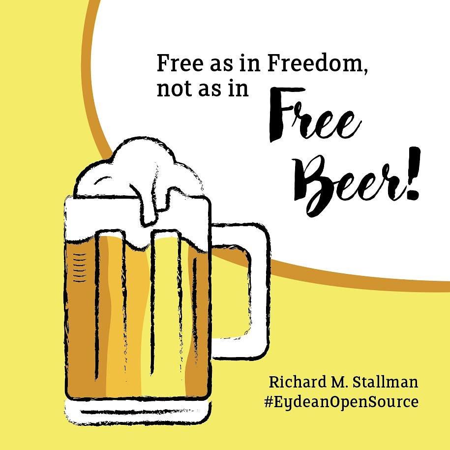 free as in free speech not as in free beer