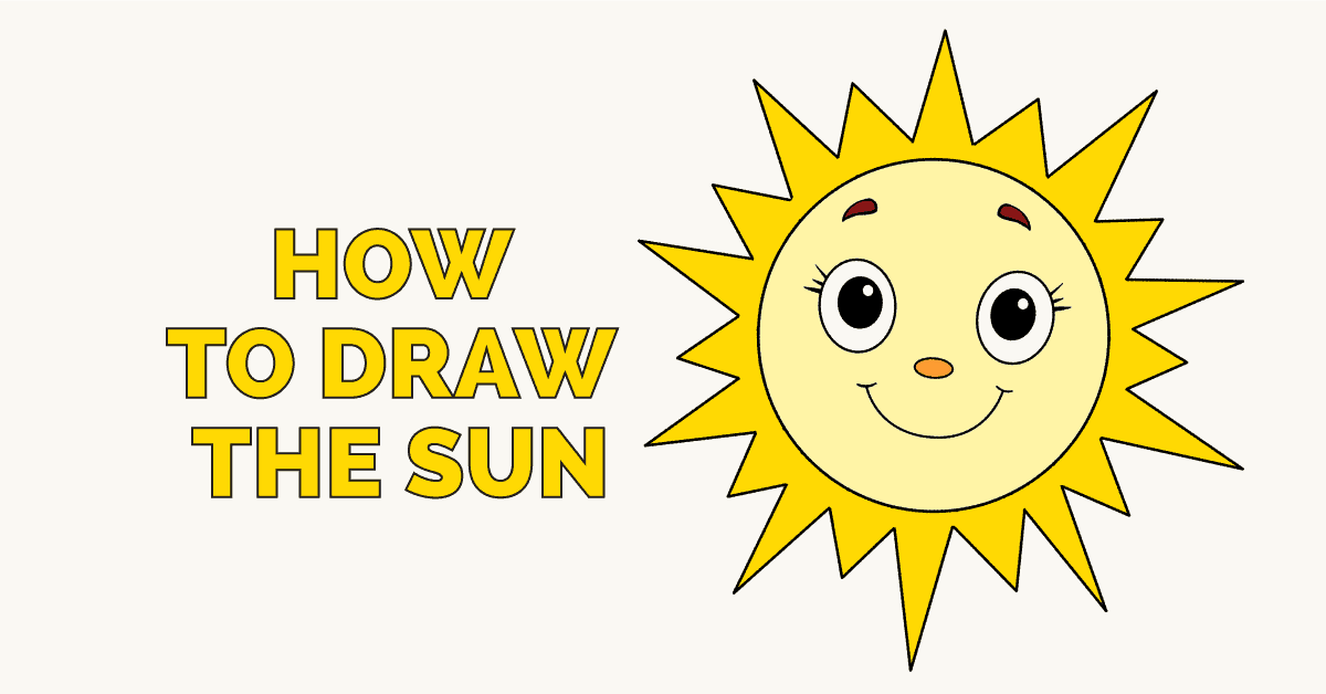Easy Drawing Guides On Twitter How To Draw The Sun Easy
