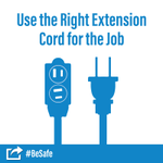 Buy extension cords that match intended indoor or outdoor uses and meet the power needs of a device. 🔌 #BeSafe