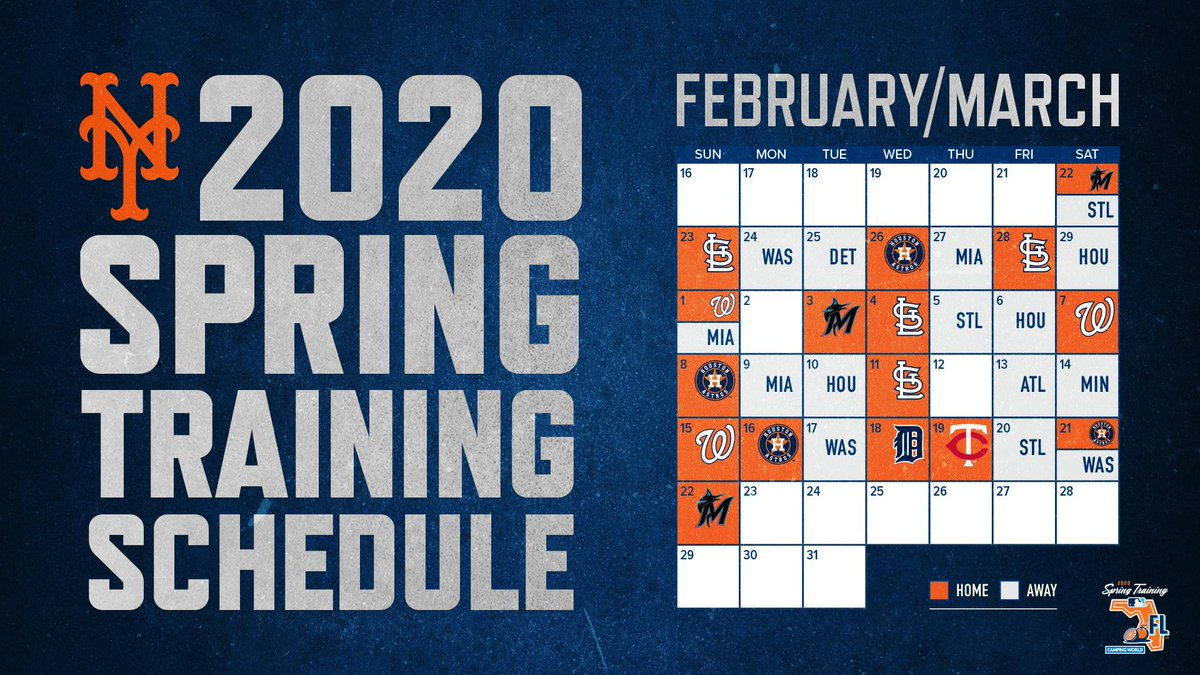 Mets Spring Training 2020.Our 2020 Springtraining Schedule Is Here