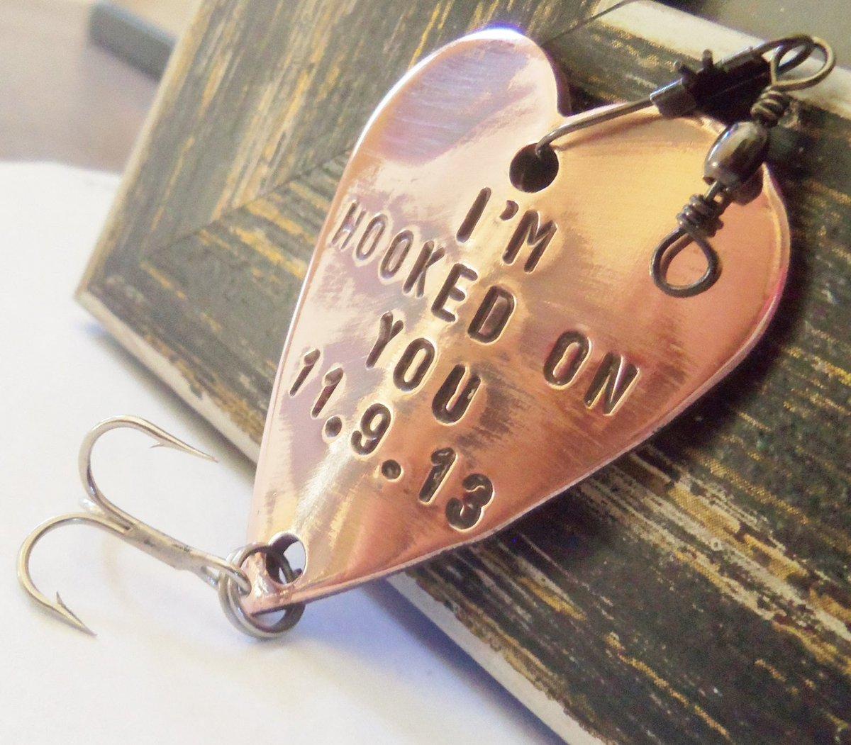 Fishing Gift Custom Fishing Lure Personalized Fishing Lure Hooked on You Fish Hook Gift for Men Outdoorsman Sportsman Anniversary Husband http://tuppu.net/a4e7cfa9 #Shopify #CandTCustomLures #Anniversary_husband
