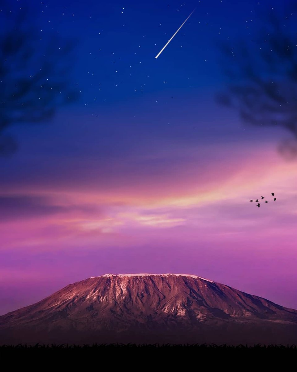 Mount Kilimanjaro at dusk from the Amboseli. Photo by @aliasgardar<br>http://pic.twitter.com/tTUoTKGciP