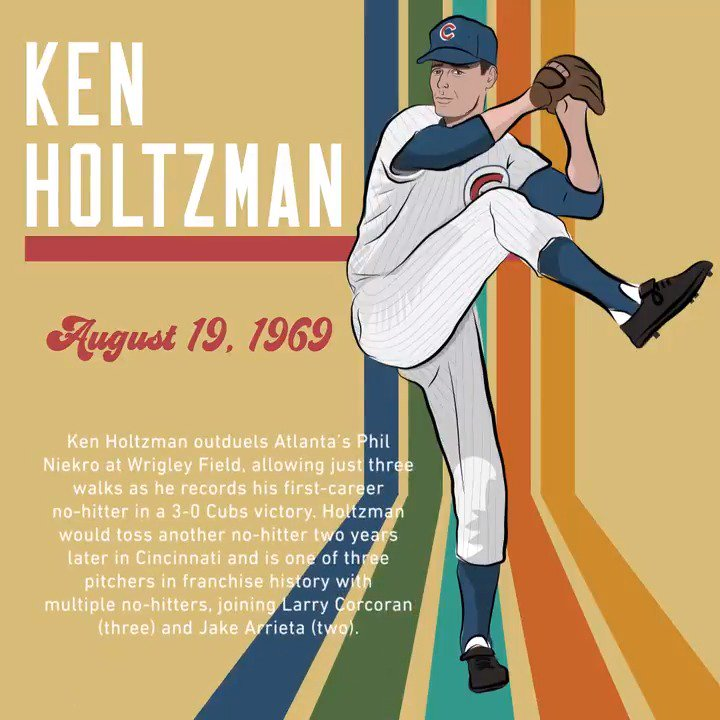 50 years ago today, Ken Holtzman recorded his first-career no-hitter at #WrigleyField: https://t.co/kNLmAWPBhh
