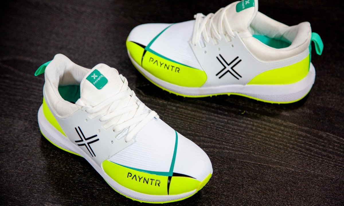 Payntr Mens X MK3 Cricket Spikes White Sports Breathable Lightweight