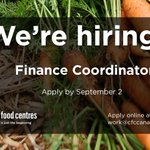 Image for the Tweet beginning: We're hiring a Finance Coordinator!