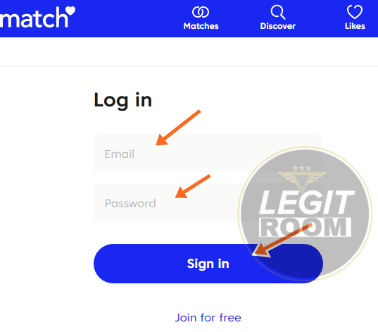 Match search without login