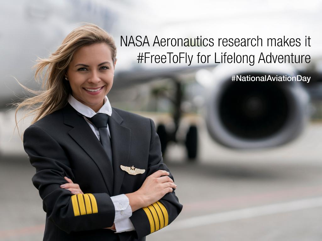 We're inviting you to celebrate #NationalAviationDay with us by sharing how aviation has touched your life. From vacations to family reunions to aviation careers, share your pics and tell us how NASA research has made you #FreeToFly ✈️