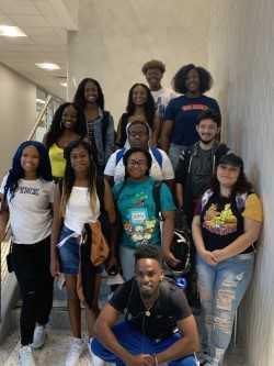 Dunbar ECHS Students making their mark on Texas Wesleyan's campus!