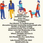 Image for the Tweet beginning: DISABILITY SUPPORT GROUP  5-6:30PM