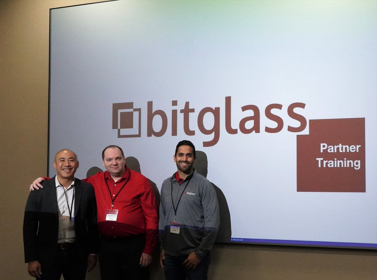 Thanks @Bitglass for the great technical & strategy session on next-gen #CASB. Looking forward to helping our clients  protect their corporate data in any cloud app, any device, anywhere by delivering agentless Zero-Day data & threat protection. #cloudsecurity #dataprotection<br>http://pic.twitter.com/isf2pibITJ
