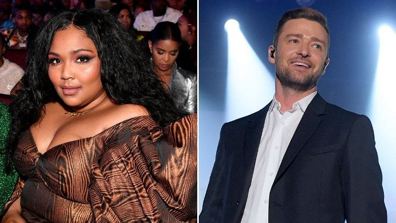 "Lizzo working on music with Justin Timberlake: ""I hope the world gets to hear them,"":  http:// bit.ly/2Z4zkFO     <br>http://pic.twitter.com/PwHqx0uhmg"