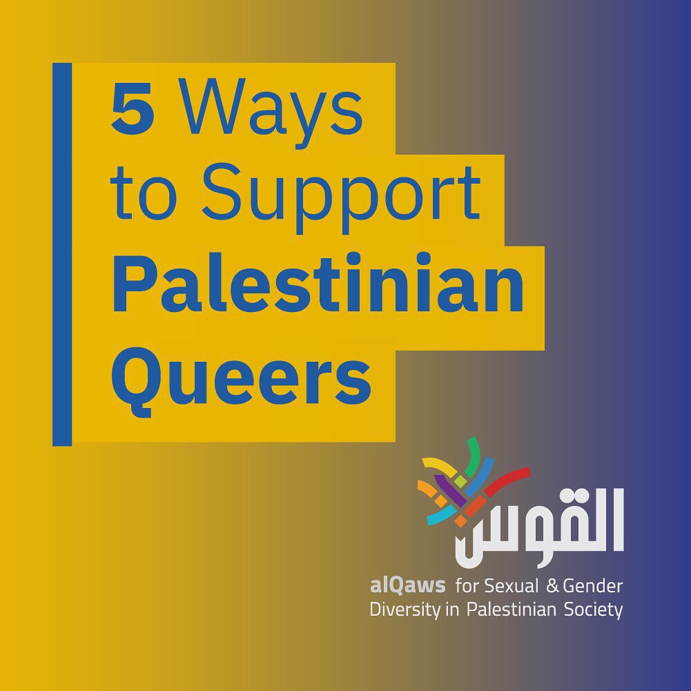 Listen up! Five ways to support Palestinian queers.   (Thread) <br>http://pic.twitter.com/OUIhUwoClo