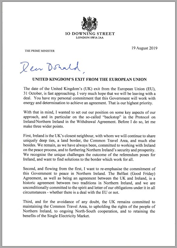 """I have written to @eucopresident about key aspects of the UK's approach to Brexit, problems with the """"backstop"""" & the Government's commitment to the Belfast (Good Friday) Agreement whether there is a deal with the EU or not. gov.uk/government/pub…"""