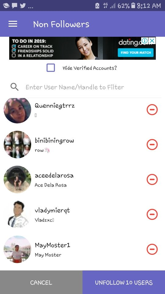 New unfollowers mga bwesit hahaha