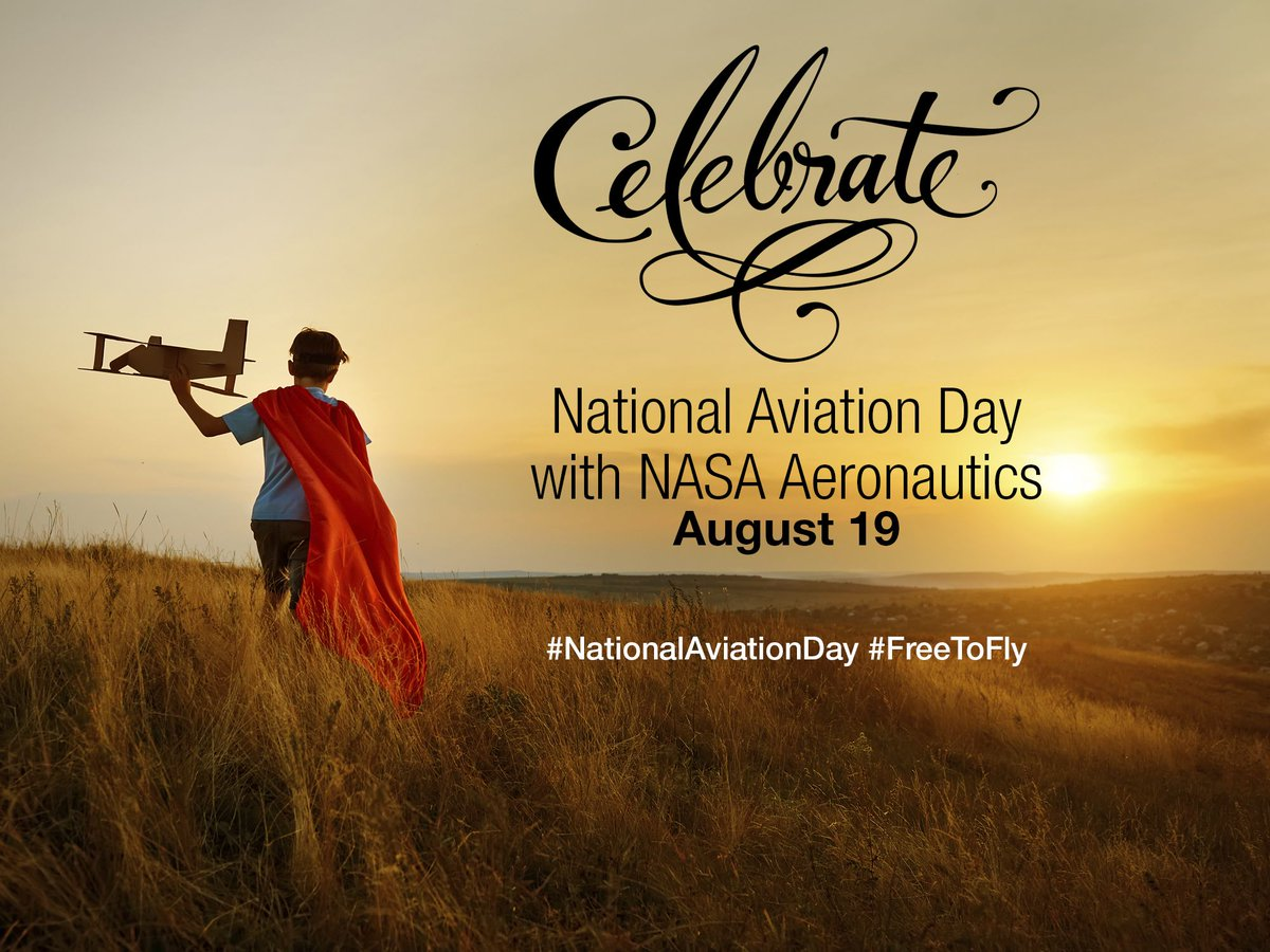 How does aviation make us #FreeToFly? Vacations✈️⛱️ Holidays✈️🎄 Work✈️💼 Fashion✈️👚 Technology✈️🖥️ Medicine✈️💉 Learn more about @NASAAero in your life on #NationalAviationDay: go.nasa.gov/1U8nVKp