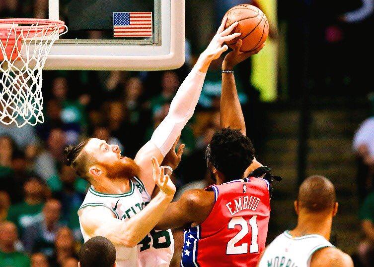 Career 4 Block Games  Aron Baynes: 2 Donovan Mitchell: 0 Steph Curry: 0 Allen Iverson: 0  #NBABlockWeek<br>http://pic.twitter.com/aogdvDgYr6