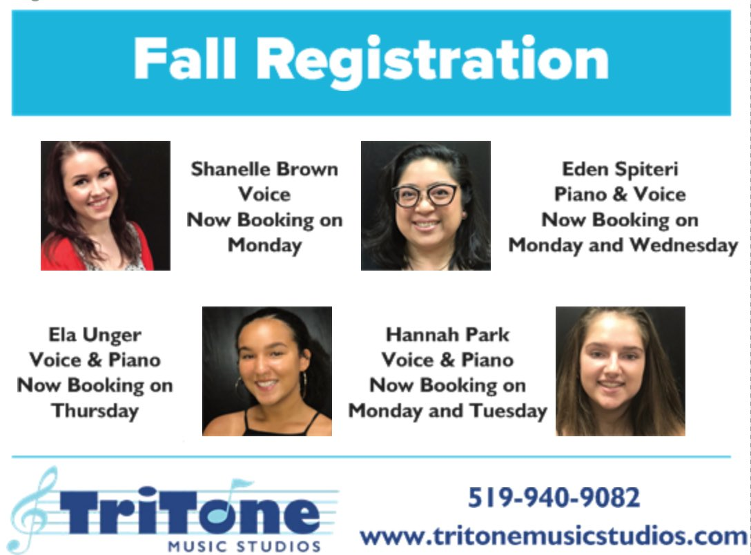 We are still booking spots for fall lessons! Have you registered yet?  #MusicLessons #SingingLessons #VocalLessons #VoiceLessons #PianoLessons #PianoTeacher #GuitarLessons #GuitarTeacher #UkuleleLessons #UkuleleTeacher #DrumLessons #DrumTeacher #TriToneMusicStudios #Orangeville<br>http://pic.twitter.com/w2H1kJPyBz