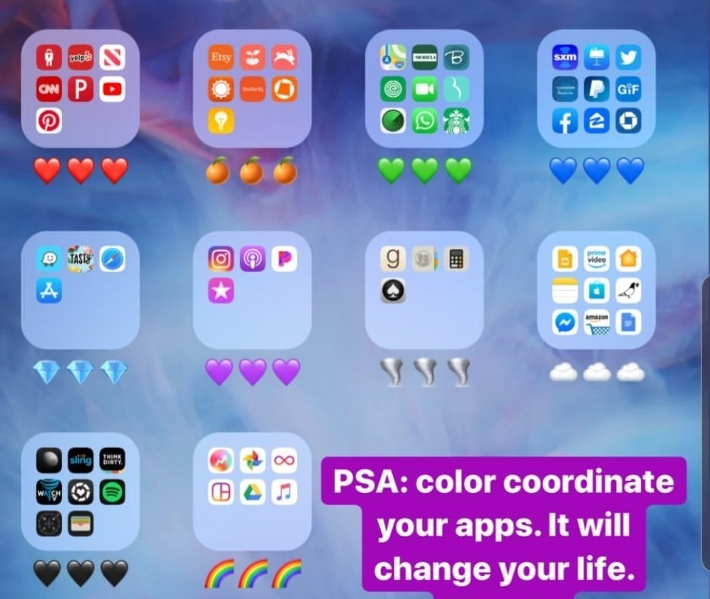 Color coding app groups?!!!  <br>http://pic.twitter.com/7GBEtNjA0q