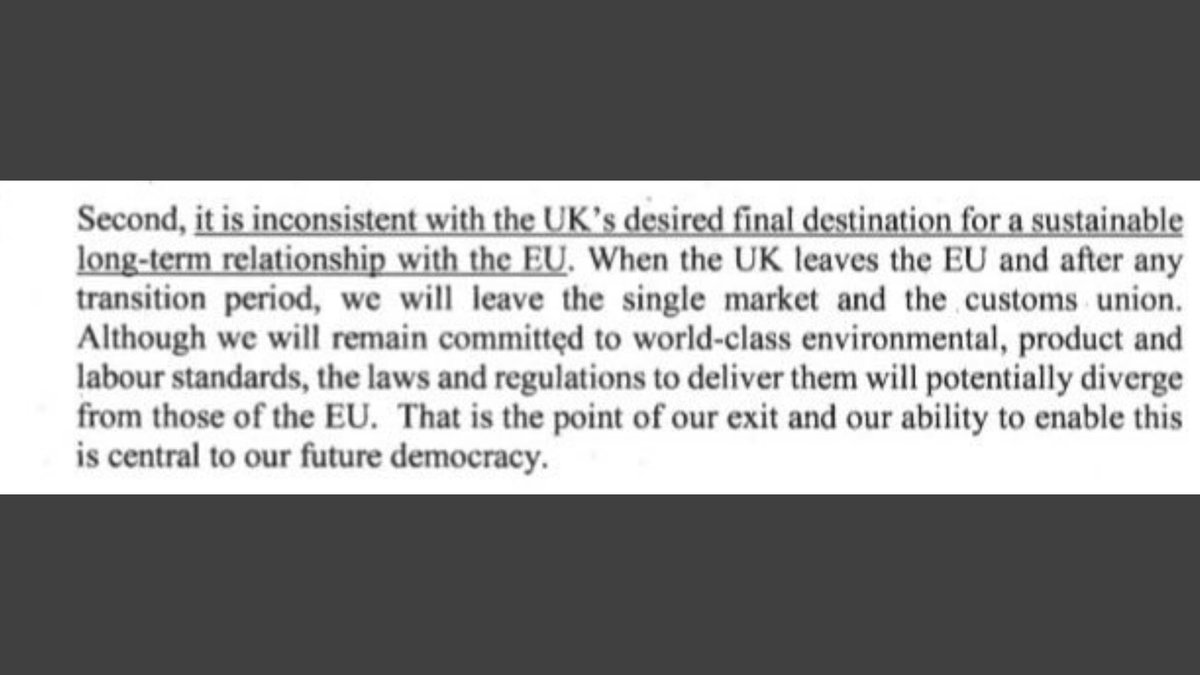 Chilling in the letter to Donald Tusk PM says Environmental, Product and Labour Standards will diverge from those of the EU. The PM&his hard right cronies in the Tory party have been after lowering Environmental and Workers rights as they see them as a burden on corporations