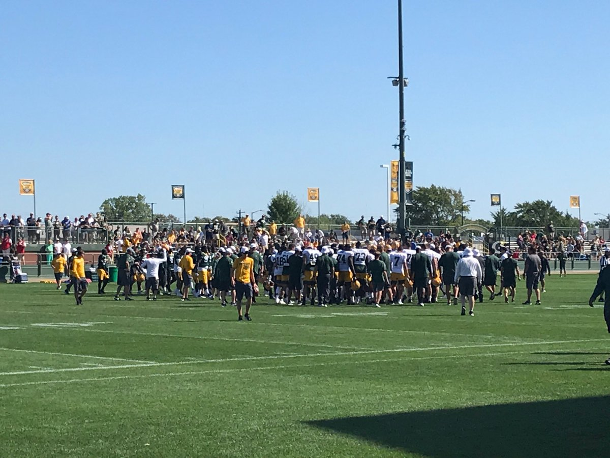 #Packers training camp is officially closed. <br>http://pic.twitter.com/HBH8aMocpM