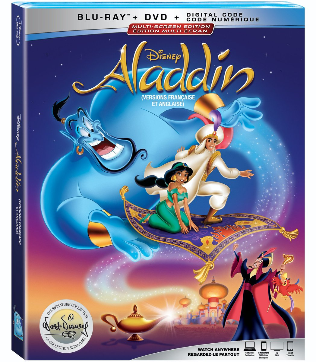 Make way for Prince Ali! Follow us + RT to enter to #win the Signature Edition of @Disney's animated classic, #Aladdin, plus the live-action adaptation starring Will Smith, both of which come to Blu-ray September 10! <br>http://pic.twitter.com/ZygTdiHl6t