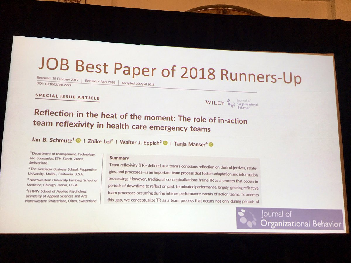 Tanja Manser On Twitter Excellent News That This Paper Was Ranked Third In The Best Paper Award Of The Job Congratulations To Team Schmutz Learnthrutalk And Zhike Lei Https T Co Bf49xrej9z Https T Co Ut0h2pr4md