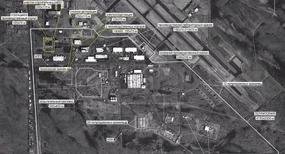Cuando EU se retiró de tratado INF hacía 2 años q fabricaba misiles d alcance 1/2. Imagen satelital del 3/1218 muestra gran planta armamentista, q en dos últimos años, su área aumentó d 55 mil a 79 mil metros cuadrados y los empleados en casi 2 mil, afirma el ministerio ruso.