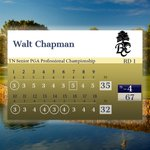 Image for the Tweet beginning: After round 1, Walt Chapman,