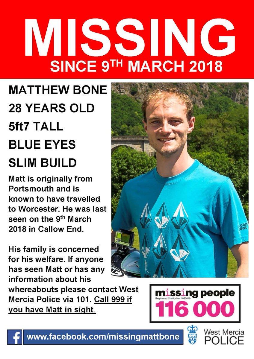 RT @SWorcPROACTIVE: Please share #LongLostFamily #missingmattbone https://t.co/SzfIgVgItq