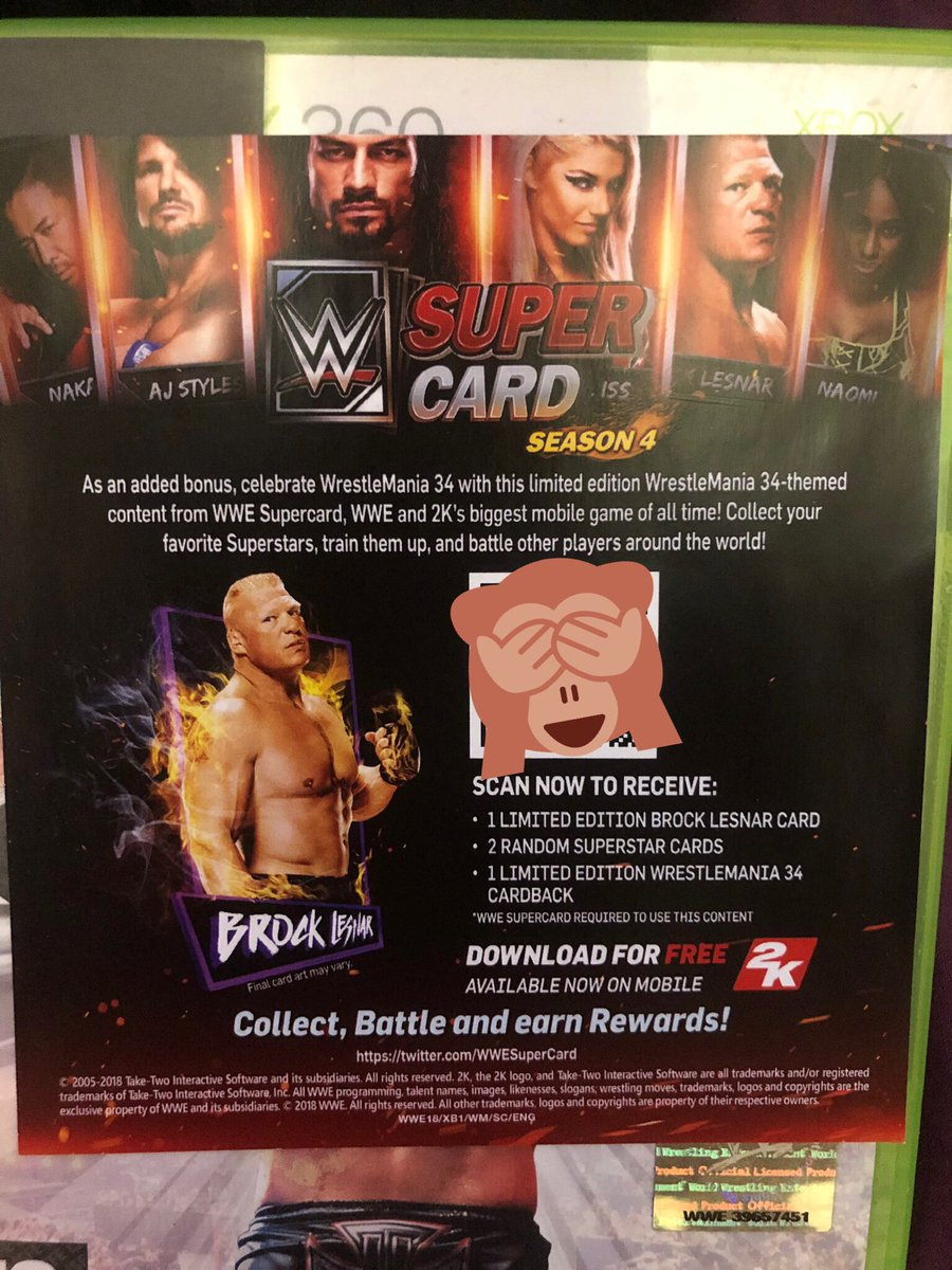 The Beast: Brock Lesnar Titan Card Image QR Code  WWE2K18: Wrestlemania Edition  Combined RT's and likes on tweet to equal or exceed 666: The Number of the Beast!  Must be following!  Whilst you're here, feel free to check out  http:// Twitch.tv/JayCaulls       #WWESupercard #QRCode<br>http://pic.twitter.com/PtRW2caIpx