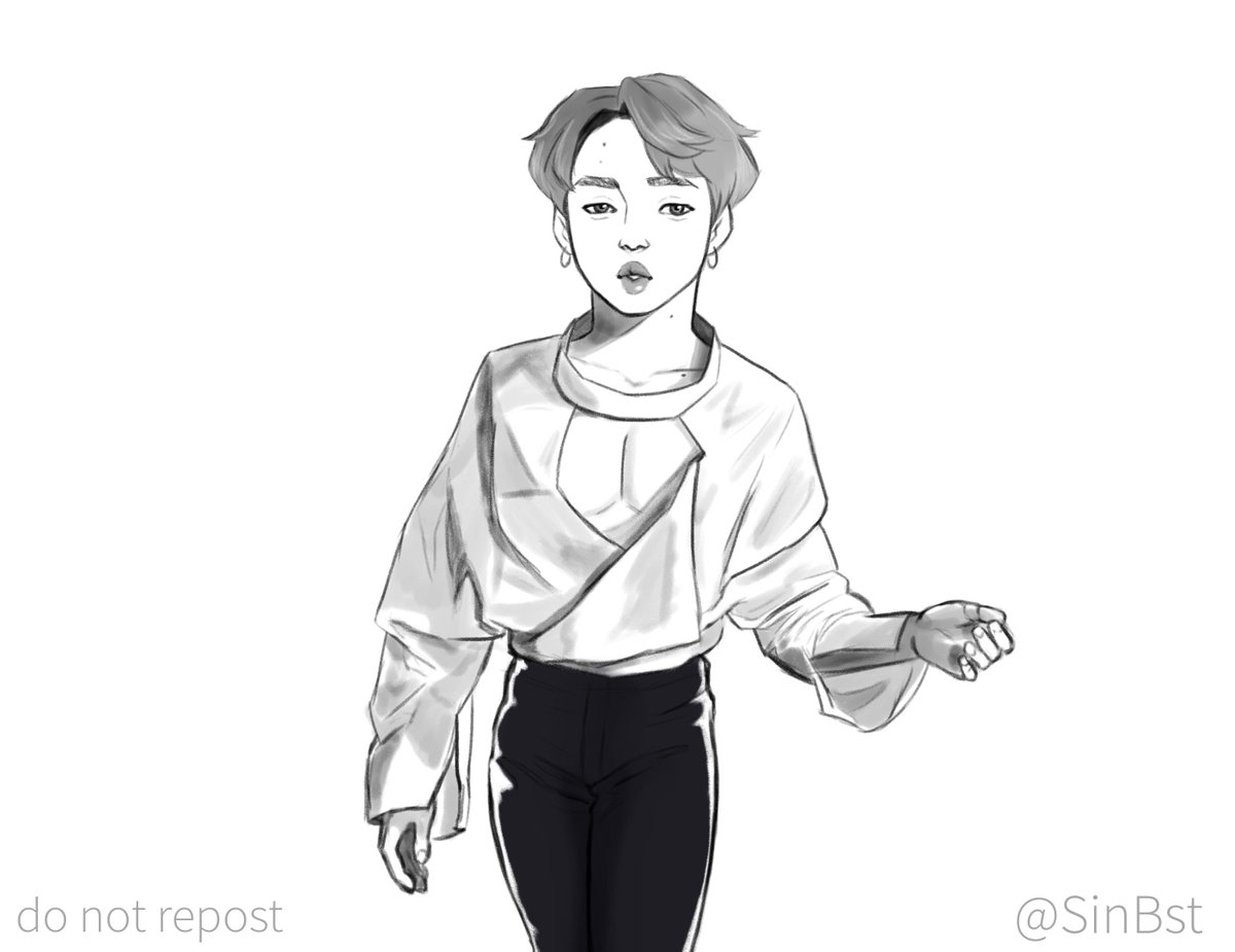 Jimin wearing Taemin's outfit from Move #Jimin #btsfanart<br>http://pic.twitter.com/MOwEt1whME