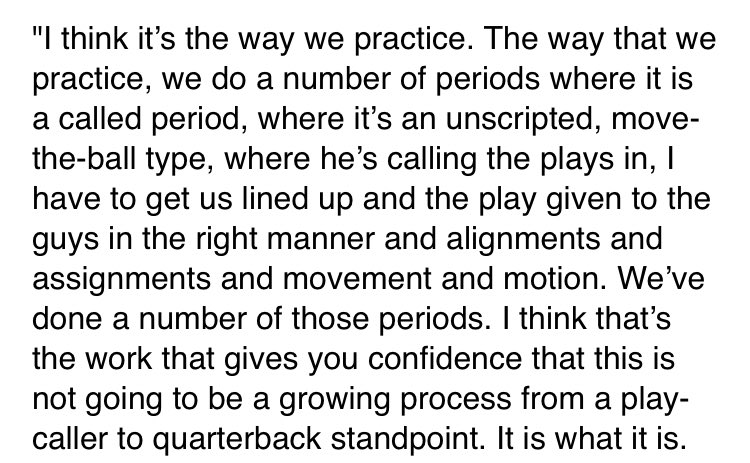 Asked Aaron Rodgers why it's unnecessary to play preseason snaps when the #Packers have a new offense, new play caller, and he's the QB. He said ... a lot. Worth reading his answer in full. <br>http://pic.twitter.com/QMz40qG17e