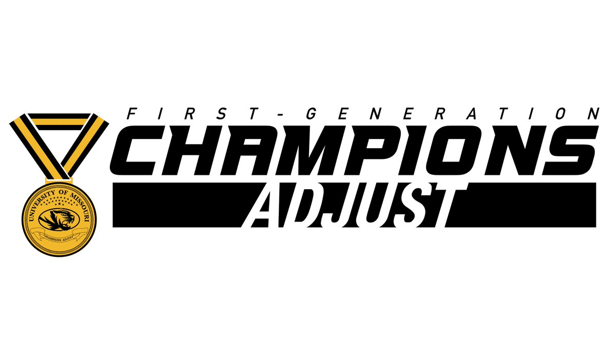 Excited to kick off the inaugural Champions Adjust leadership organization this Fall for our first-generation student-athletes here at Mizzou! We look forward to being a valuable resource to those who may think theyre on this journey alone! #WeGotYou #TrustTheProcess #Champs