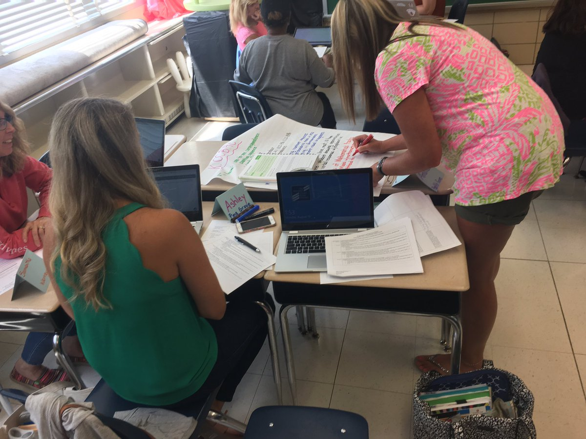A great day with K teachers unpacking content for Unit 1!@BCPSMATH @MissHilberg107