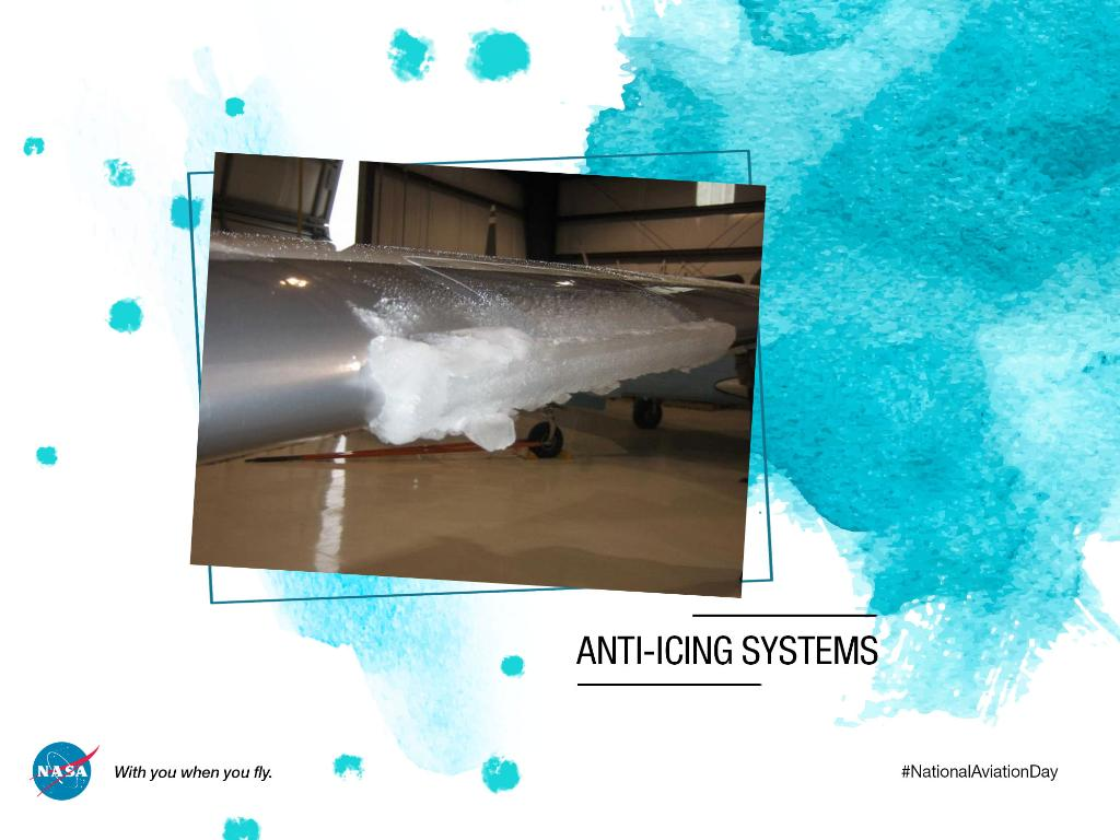Ice accumulation is a serious safety hazard for aircraft 🥶 This is why we have collaborated with industry partners to develop lightweight heating elements capable of keeping ice from forming on airplane wings→go.nasa.gov/2NjUmcm #NationalAviationDay