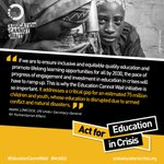 "Image for the Tweet beginning: #EducationCannotWait ""addresses a critical gap"