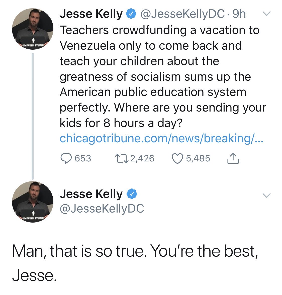I'm sure Federalist types do a lot of self-praise on alt accounts but this one's so on the nose it'll make your eyes water. if you're a bigot near Jesse please give him a hug