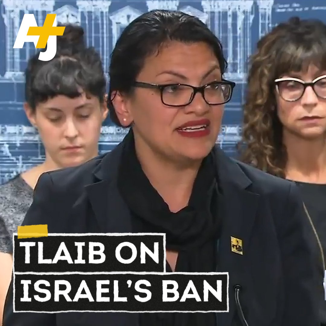 All I can do ... is to elevate the truth the only way I know how. Rep. @RashidaTlaib spoke at a press conference after she and Rep. Ilhan Omar were banned from visiting Israel.