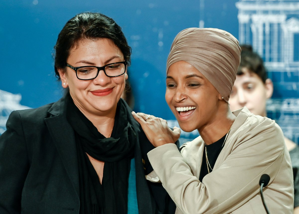 @RashidaTlaib Reps. Rashida Tlaib and Ilhan Omar held a press conference highlighting the human costs of Israeli travel restrictions on Palestinians and others. The occupation is real. Barring members of Congress from seeing it does not make it go away. We must end it together.