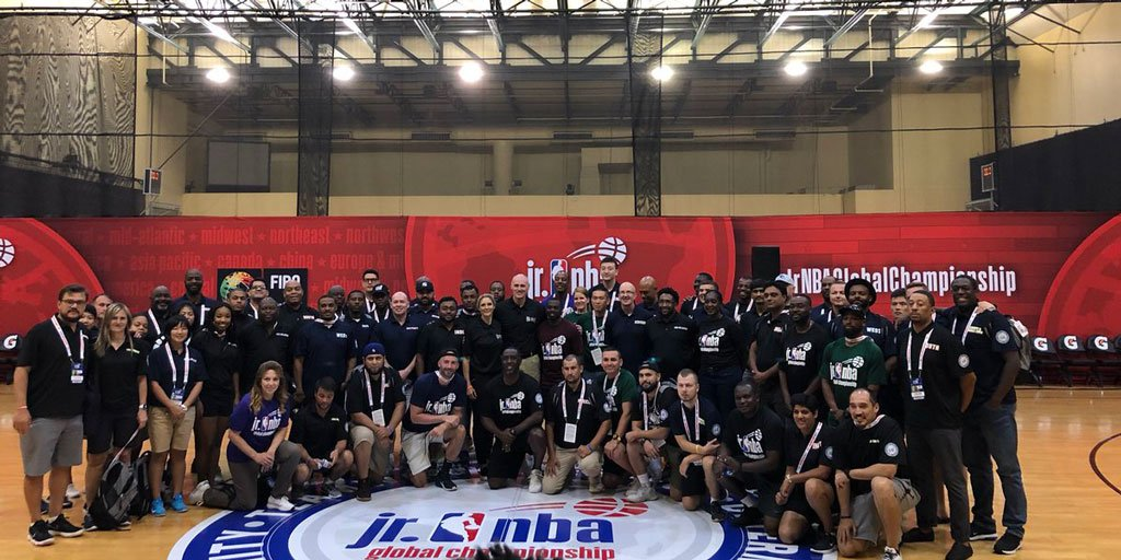 NBCA President Rick Carlisle & @dallasmavs Assistant Coach Jenny Boucek led a Coaches Clinic at the @jrnba World Championships in Orlando. What an amazing event & conversation between @NBA Coaches & Coaches tasked with developing 13 & 14 year olds!  Link: http://ow.ly/oETT50vCFDp