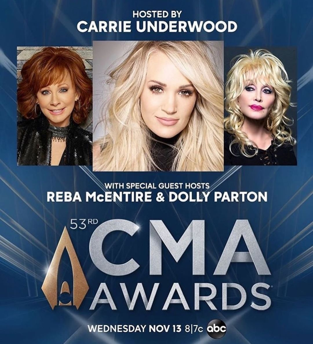 I'm so excited for @carrieunderwood to be hosting this year #CMA with @reba & @DollyParton but also sad that @BradPaisley isn't hosting this with Carrie!! <br>http://pic.twitter.com/4f3ubJHCQC