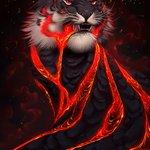"Image for the Tweet beginning: Tiger + Volcano = _____________.  ""Overflow"""